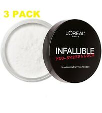 3 PACK L'Oreal Paris Makeup Infallible Pro-Sweep Lock Loose Matte Setting Face