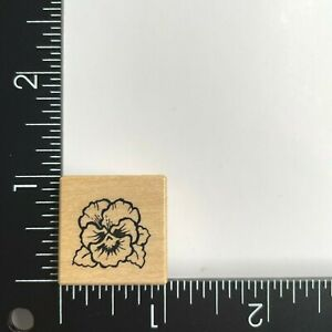 PSX Designs Small Pansy Flower A1308 Wood Mounted Rubber Stamp