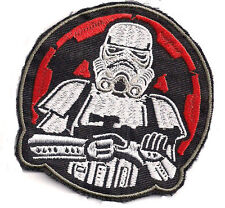 Star Wars Stormtrooper Red COG Patch ricamate-a caldo