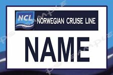 4x6 Magnetic Name Tag for your Cruise Stateroom Door - NCL NORWEGIAN CRUISE LINE