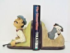 "Golfer Bookends Cartoon Look ""Stuck in Sand Trap"" Imported by CTG Distributors"