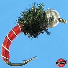 Zebra Midge RED Premium Fishing Flies- One Dozen - Select Sizes***