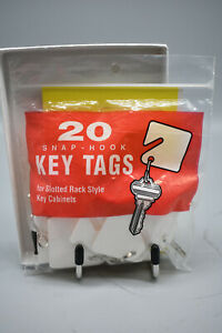 MMF Industry Snap-Hook Key Tags Slotted Rack Style Key Cabinets, 19 Total, Used