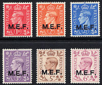 KVI 1943 Definitive Overprint M.E.F. / MEF (Multi-Listing) Unmounted Mint
