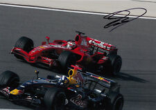 David Coulthard mano firmato RED BULL RACING FOTO 12X8.