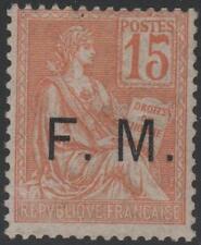 "FRANCE STAMP TIMBRE FRANCHISE MILITAIRE N° 1 "" MOUCHON 15c ORANGE "" NEUF xx TTB"