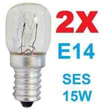 X2 25 W SES Appliance Lampe réfrigérateur//micro-ondes//Machine à Coudre//Poterie Ampoule