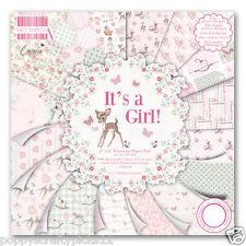 """6"""" X 6"""" Completo Pad 64 hoja es una niña bebé álbum de recortes elaboración de Tarjetas artesanal de papel"""