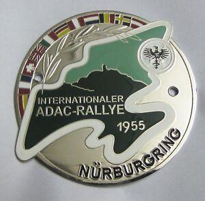 ADAC INTERNATIONALER RALLYE 1955 NURBURGRING GRILL LOGOS  CAR badge