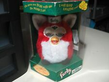 "6"" electronic Xmas Santa Furby doll, by Tiger Electronics 1999, NEW w/ tear"