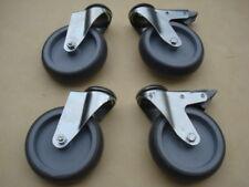 Lot de 4 roulettes diametre 125mm à oeil à frein