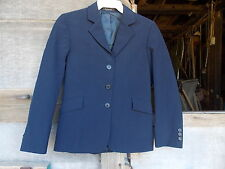USED BEAUFORT SHOW JACKET NAVY BLUE PIN STRIPE SIZE16 MEASUREMENTS IN DESCRIP