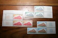 France Double Paire CONSEIL DE l' EUROPE 9 timbres 1977 YT 53 à 55