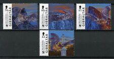 Gibraltar 2017 MNH Bats of Gibraltar WWF 4v Set Bat Wild Animals Stamps