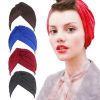 Muslim Turban Headband Hat Stretch Indian Pleated Hijab Head Wrap Indian Caps