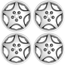 """4 PC Set Hub Cap Silver 14"""" Inch (Metal Clips) Wheel Cover Center Caps Covers"""