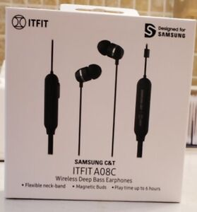 New Samsung C&T ITFIT Flexible Neck Band and Handsfree Bluetooth Headset