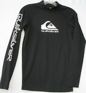 Quiksilver men's long sleeve nylon/spandex UV tech rash guard shirt size small