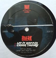 "Break Let it Happen/Chaos Theory Drum & Bass Vinyl Record 12"""