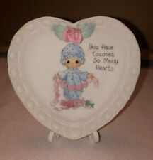Precious Moments Mini Heart Plate ~ You Have Touched So Many Hearts ~ 1994