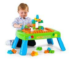 Mesa con Bloques 20 piezas Multicolor Patas Plegables Jueno Niño Construcción