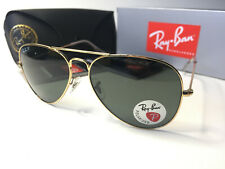 Ray-Ban 3026 Aviator Sunglasses Polished Gold/G-15 Green Polarized  62mm