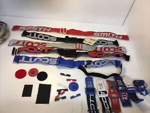 Lot of Vintage SCOTT, SMITH GOGGLE Straps, 1990, with parts