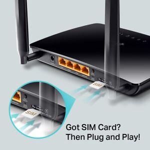 ROUTER WIRELESS TP-LINK TL-MR6400 Wi-Fi N300+4LAN SCHEDA MOBILE DATI SIM LTE 4G