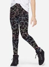 NWT Justice Girls Unicorn Patterned Black Leggings!  Choose Size!  🦄🦄🦄