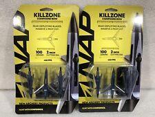 New listing 2 - NAP Killzone Compound Bow Mechanical Broadhead 100 grain 2 inch cut