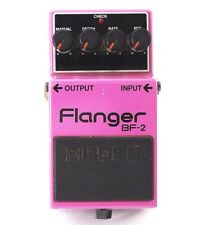 BOSS BF-2 FLANGER FLANGE GUITAR EFFECTS PEDAL BLACK LABEL made in JAPAN