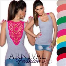 Regular Size Sleeveless 100% Cotton Tops & Blouses for Women