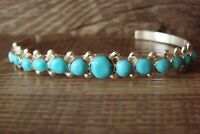 Navajo Sterling Silver Turquoise Row Bracelet