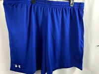 Men's Under Armour Heat Gear Fitted Blue Athletic Shorts Size 3XL