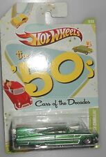 HOT WHEELS CARS OF THE DECADES Custom 59 Cadillac Green 1950's New
