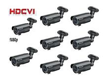 8 PCS HDCVI 1080P Outdoor IR Bullet Camera 2MP Varifocal 2.8~12mm Lens BNC Black