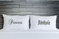 Pillowcases Princess Asshole Funny Bedding Adult Novelty Bedroom Gift WSD763