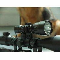 CREE XML 1200LM Tactical Scope Mount Flashlight Lamp Hunting Gun Air Rifle Torch