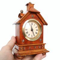 Antique German JUNGHANS MANTEL Baby Mini CLOCK 1910s ! House Shaped!! Miniature