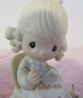 "PRECIOUS MOMENTS 1979 FIGURINE "" MOTHER SEW DEAR  # E3106 GREAT COLLECTIBLE"