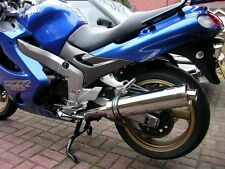 Kawasaki ZZR 1200 Stainless round Road Legal Motorbike Exhaust Can