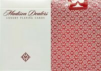 NEW SEALED Madison Red Borderless Dealers Playing Cards Deck Ellusionist Magic