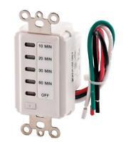 Teklectric Bathroom Fan Auto Shut Off Switch Timer, 60-30-20-10 Minute