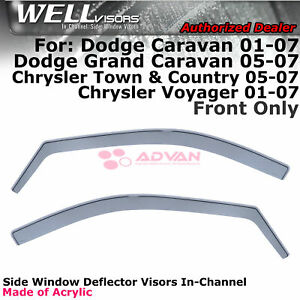 WELLvisors For Caravan Town & Country Voyager 2001-2007 Window Visors In-Channel