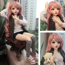 60cm 1/3 Ball Jointed BJD Doll Girl Toy Full Set Outfit Removable Eyes Wig Shoes