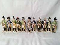 "Antique total 11-5"" tall Porcelain Napoleon figures-bottom Green Crown/N/Germany"
