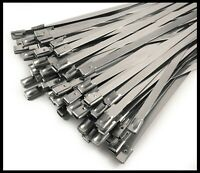 A2 Stainless Steel Metal Cable Ties Zip Wrap Exhaust Heat Straps Induction Pipe