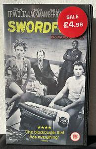 Swordfish (VHS/SUR, 2002) starring John Travolta, Hugh Jackman, Halle Berry