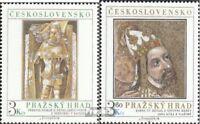 Tschechoslowakei 2442-2443 (kompl.Ausg.) postfrisch 1978 Prager Burg