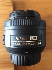 Nikon Dx Af-s Nikkor 35mm 1:1.8G Lens
